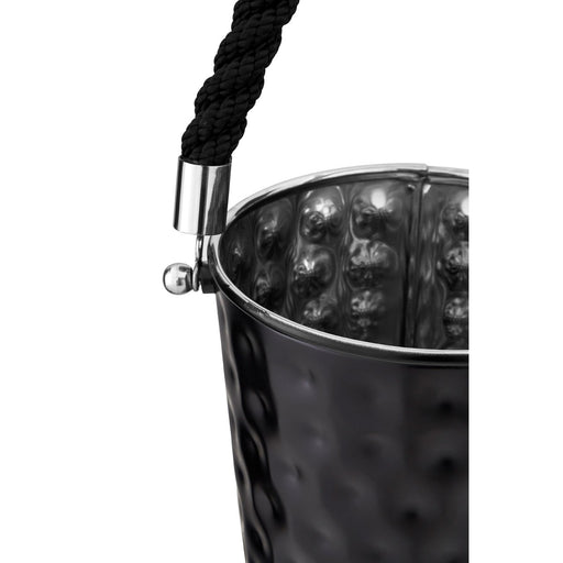 Small Hammered Onyx Black Ice Bucket