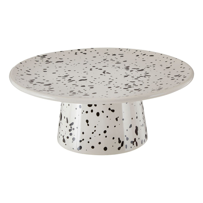 Speckled cake stand made of ceramic/dolomite