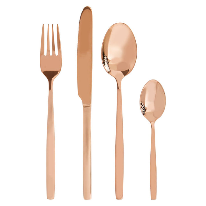 Rose Gold Cutlery Set (16 Piece)