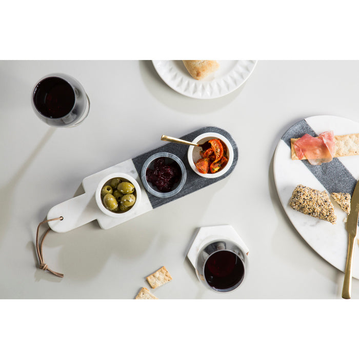 Marble Condiment Set