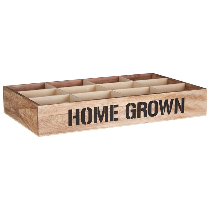Wooden crate with 12 compartements