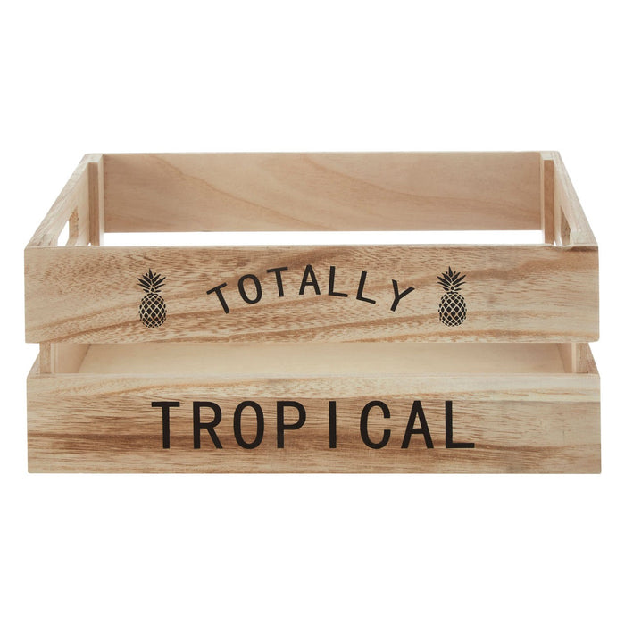 Natural Totally Tropical Crate