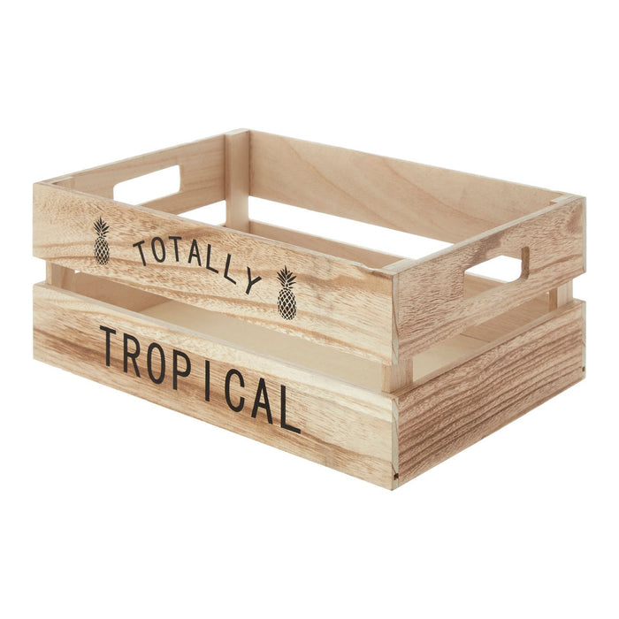 Rustic Wooden Crate for fruits and groceries