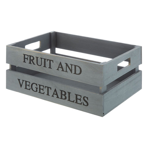 Grey Fruit & Vegetable Groceries Crate