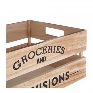 Wooden Groceries Crate