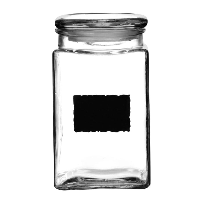 Air tight glass jar with chalk labels