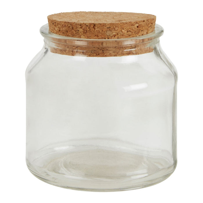 Eco Glass Jar With Cork Lid Small