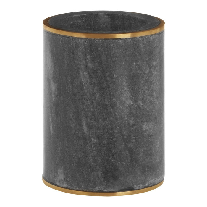 Black Agra Marble Toothbrush Holder | Tumbler