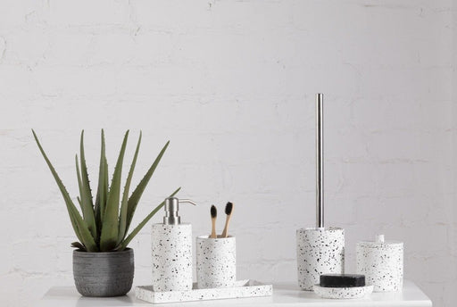 Speckled Concrete Bathroom Accessory Set Of 6