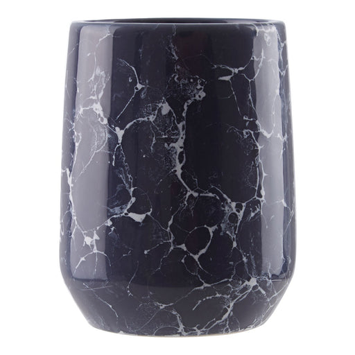 Midnight Blue Marble Effect Tumbler