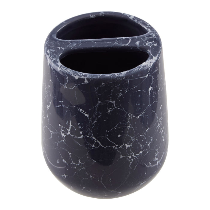 Midnight Blue Marble Effect Toothbrush Holder