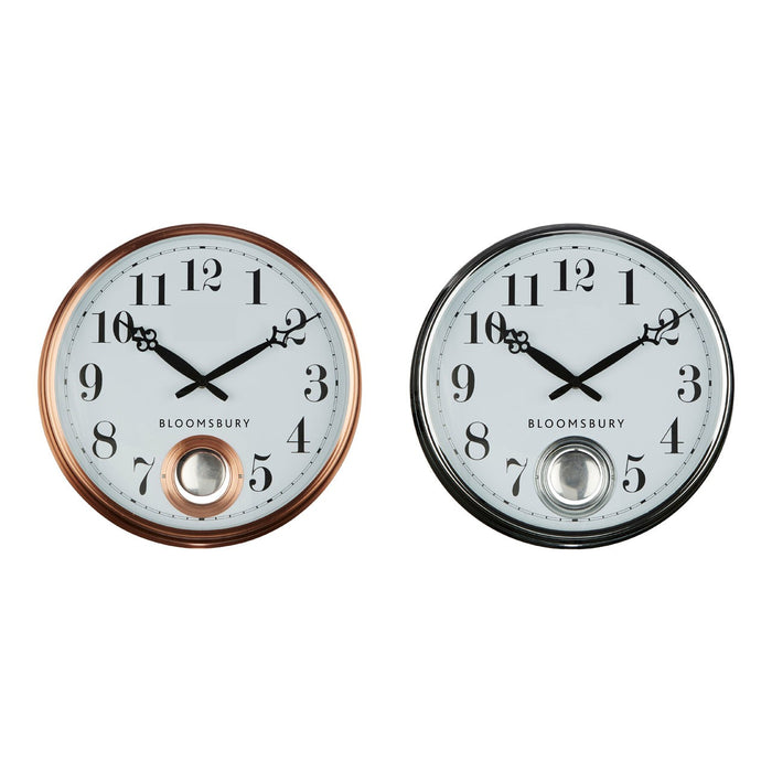 Circular Pendulum Wall Clock - Copper