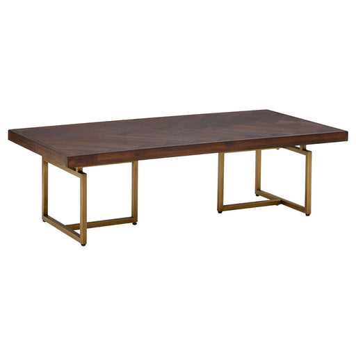Brando Coffee Table With Golden Frame