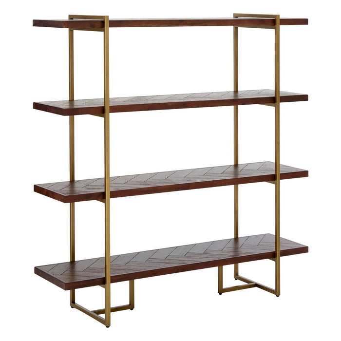 Brando shelf with metal frame