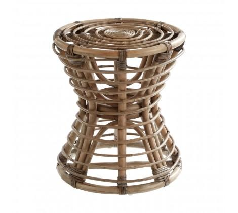 Brown Rattan Stool