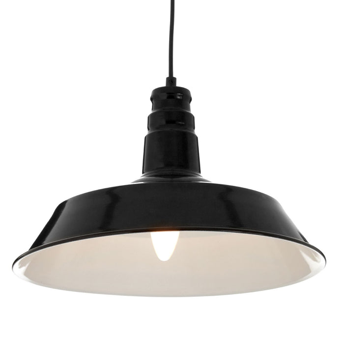 Black Metal Pendant Light