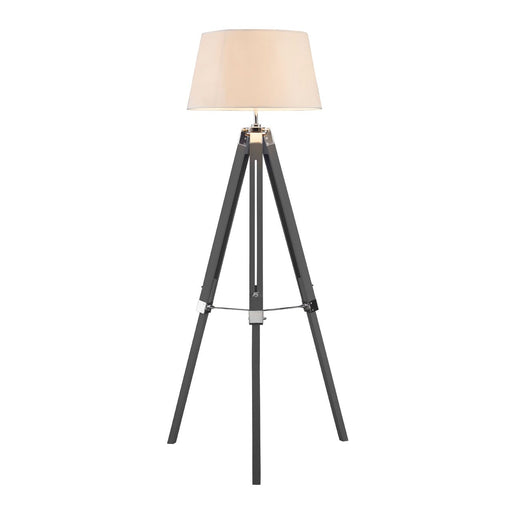Tripod adjustable floor lamp in grey