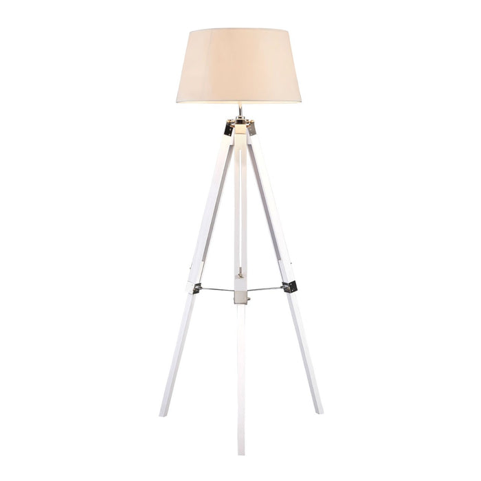 Tripod adjustable floor lamp