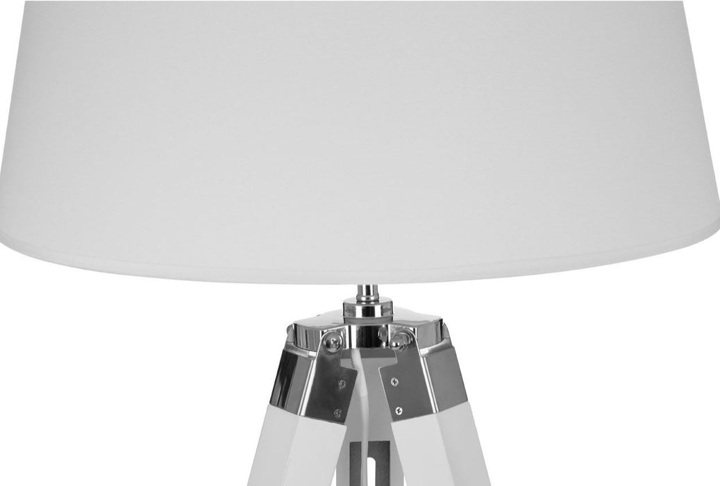 Tripod adjustable floor lamp in white