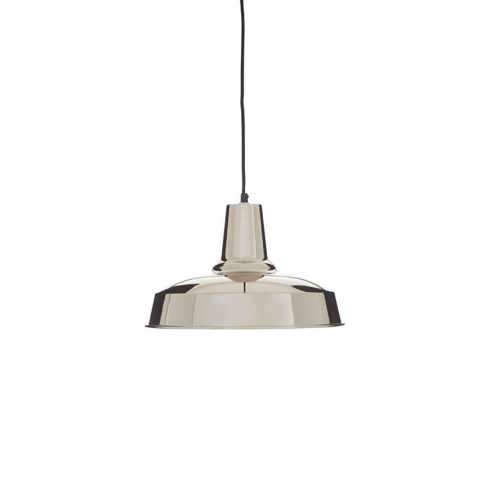Polished Metal Pendant Light
