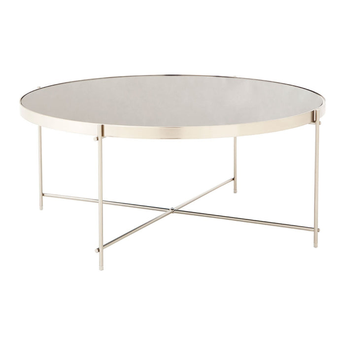 Grey Mirrored Coffee Table