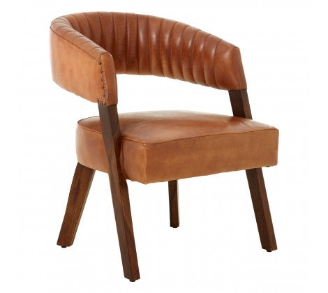 Light Brown Leather Chair