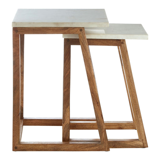 Wood & Marble Nesting Table