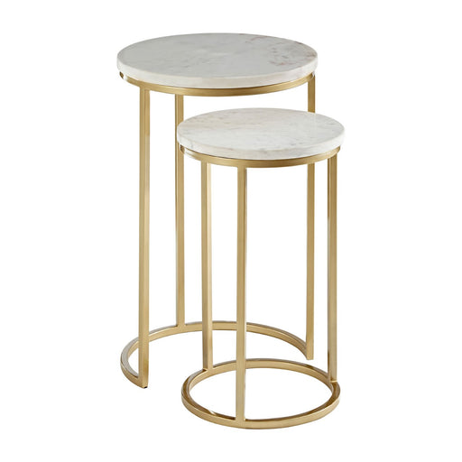 Gold & Marble Round Nesting Tables