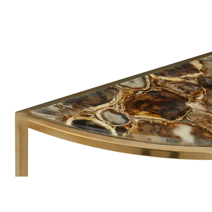 Half Moon Agate Console Table