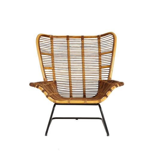 Rattan Chair with Footstool