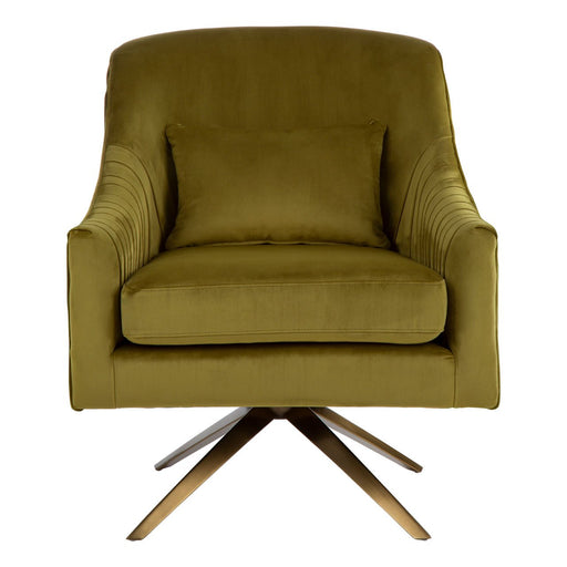 Pistachio Velvet Chair