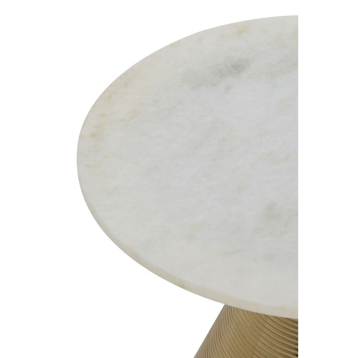 White Marble Martini Side Table