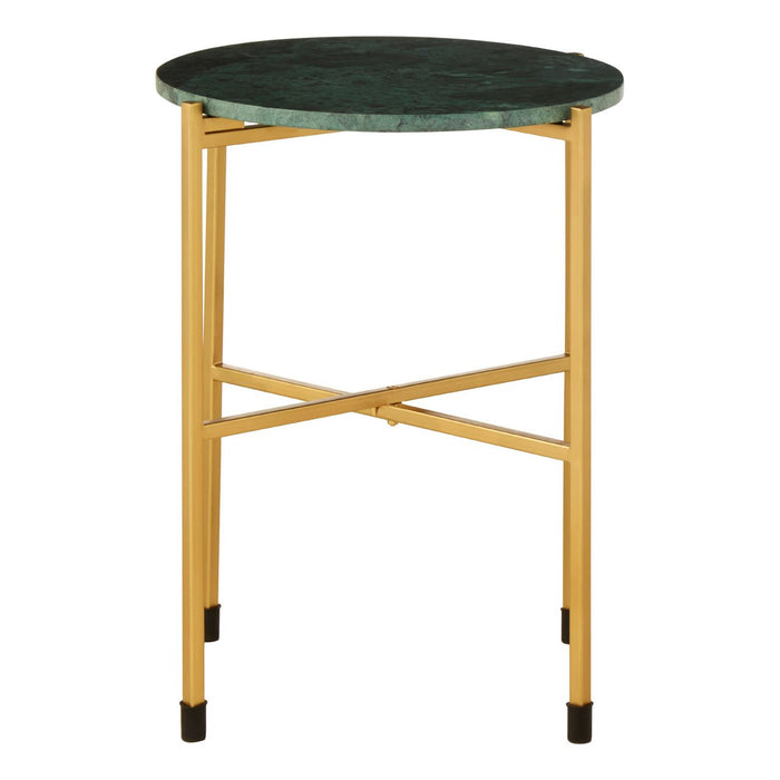 green marble with gold legs side table