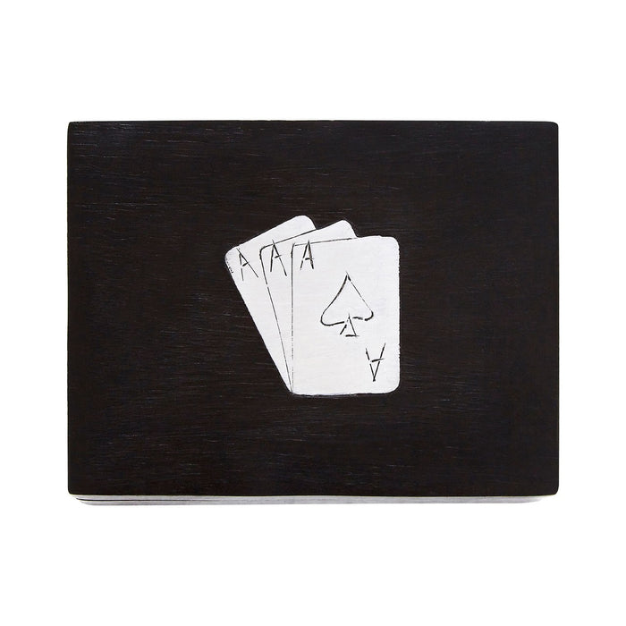 Black Wooden Playing Card Box