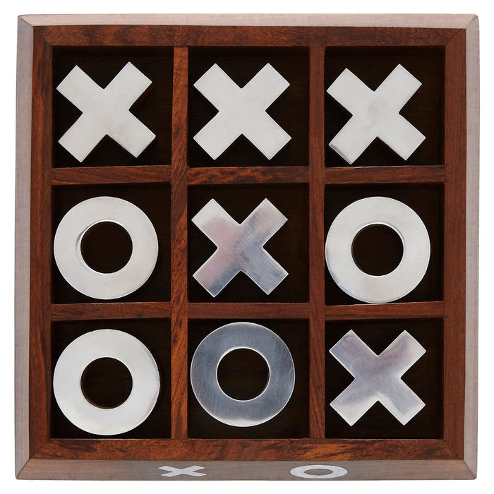 Wooden Tic Tac Toe | Noughts & Crosses Game