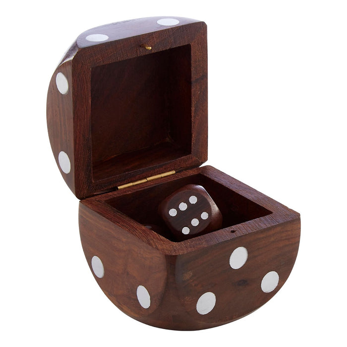 Black Handcrafted 5 Dice Box