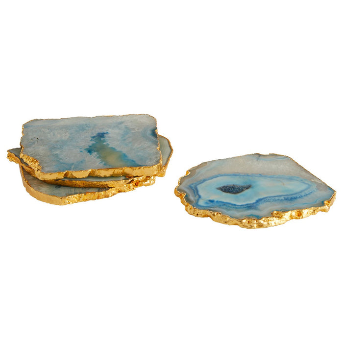 Natural & Gold Agate Coasters