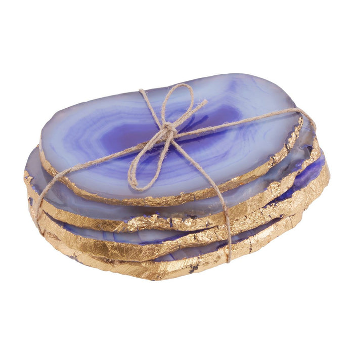 Blue & Gold Agate Coasters