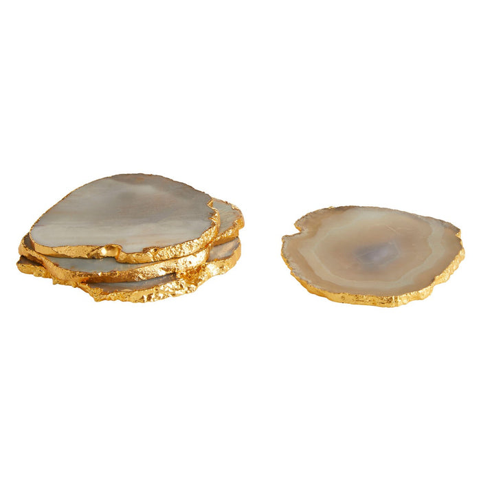 Grey & Gold Agate Coasters