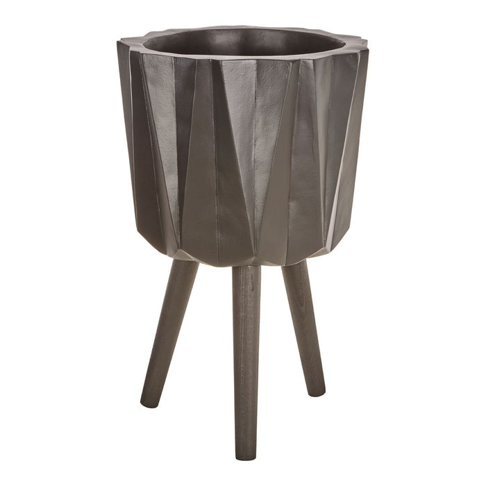 Anthracite Large Multifaceted Planter