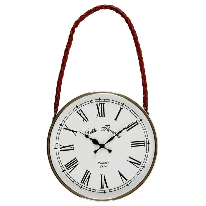 Hanging Wall Clock With Red Rope