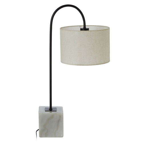 Swan neck lamp with square marble base