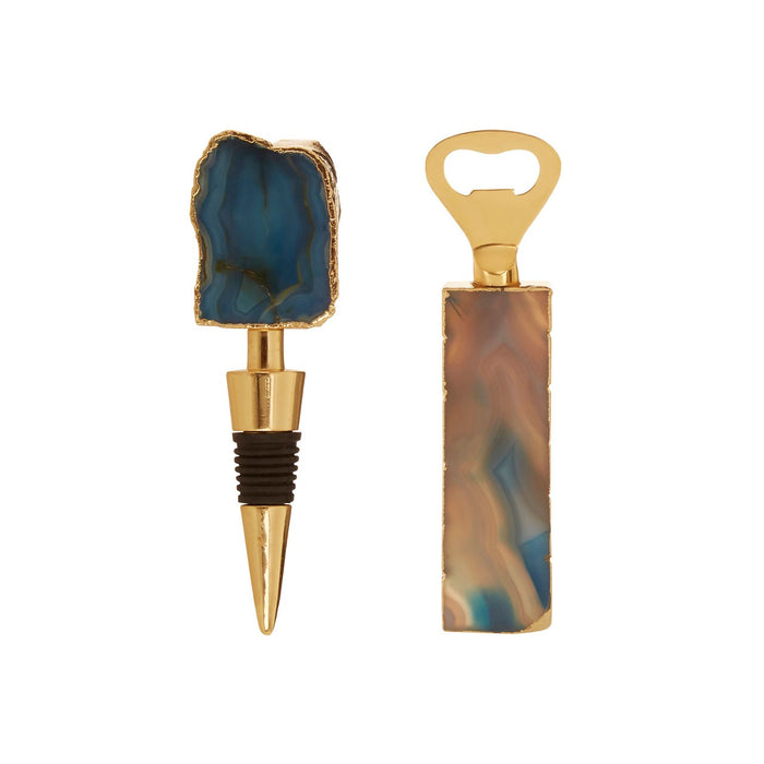 Blue Agate Bottle Opener & Stopper