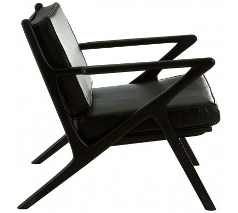 Black Teak Wood Chair