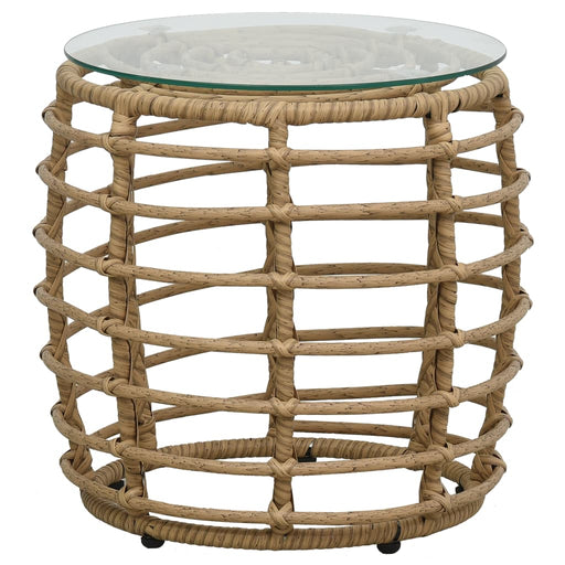 Three Piece Rattan Table And Chair Set