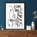 Line Faces Art Print Wall Hung