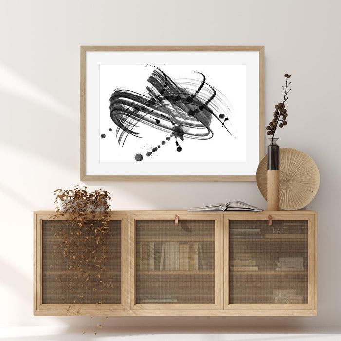 Ink Droplet Art Print Wall Hung