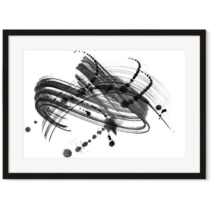 Ink Droplet Art Print Black Frame