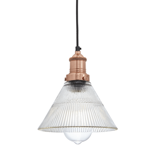 Conical Pewter Glass Pendant Light House Of Flora