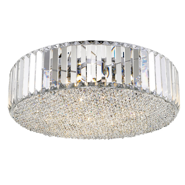Brachium Crystal Flush Ceiling Light